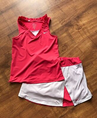 Girls 2 Piece Nike Skort & Vest Tennis Outfit Set - Age 13-14-15 Years