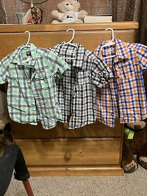 Toddler Boy Clothes Lot of 3 Short Sleeve Button-Up Shirts 3T Old Navy Healthtex