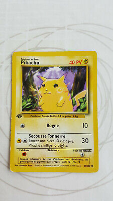 😃😃😃 1999 Carte Pokemon FR Pikachu 58/102 Set de base  Edition 1 Wizards WOTC