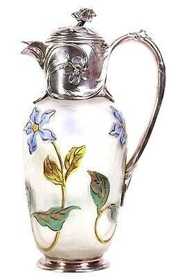 French Art Nouveau Christofle Gallia Cameo Glass Claret Jug Circa 1890