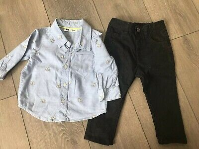 Baby Boy Disney Gap Dumbo Shirt And George Jeans Outfit Age 12-18 Months