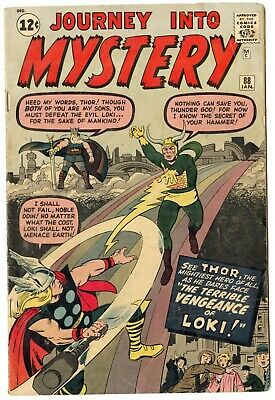 Journey into Mystery #88 VG+ 4.5 off-white pages  2nd Loki  Thor  Marvel  1963