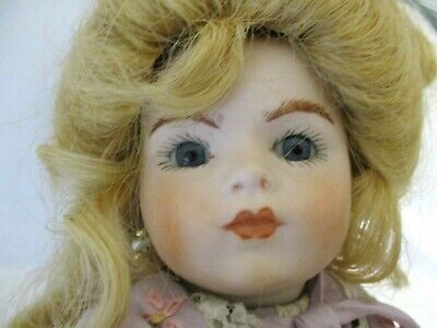 Antique reproduction bisque head Bru Jne  9Artist Doll Signed Marce'