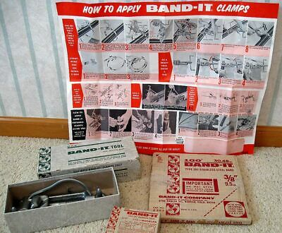 """Band-It Stainless Steel Band Clamp Tool, 100' 3/8"""" Band, 100 Type 201 Buckles"""
