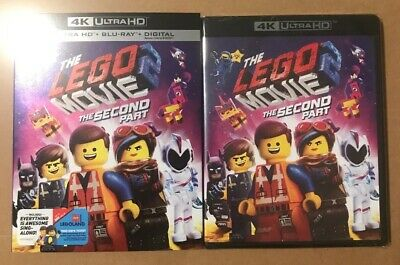 The LEGO Movie 2 Second Part (2019, 4K UHD/Bluray/Slipcover) No Digital NEW!