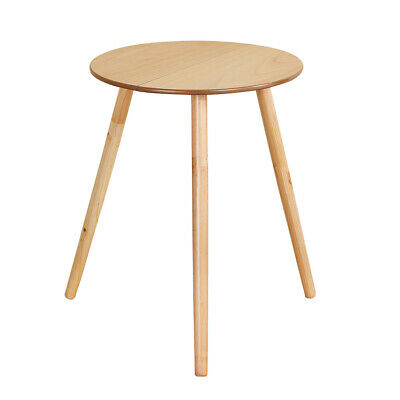 """Round Wooden Side Accent Table, 20"""" Diam"""