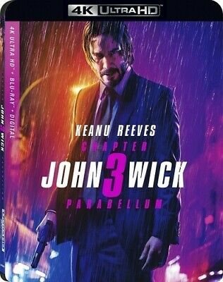 John Wick: Chapter 3--Parabellum [New 4K Ultra HD] With Blu-Ray, 4K Mastering,