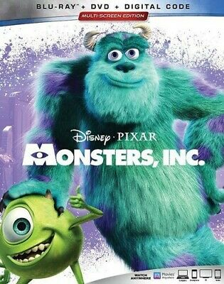 Monsters, Inc. [New Blu-ray] With DVD, 3 Pack, Ac-3/Dolby Digital, Digital Cop