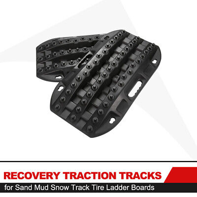 2PCS Black Recovery Traction Tracks Boards for Sand Mud Snow Track Tire Ladder