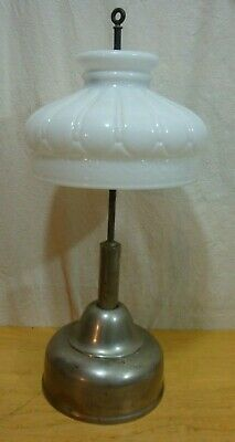 COLEMAN AIR-O-LITE LAMP with Milk Glass Shade and Pump  PARTS OR REPAIR