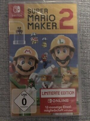 Nintendo Switch Super Mario Maker 2 Limitierte Edition Neu & Original verpackt!