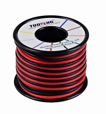 6 Awg Wire 20 M Silicone Wire Soft Flexible Tinned Copper 2 Separated Wires NEW