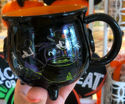 Disney Parks Mickey Minnie Mouse Halloween 2019 Caldron Coffee Mug In Hand