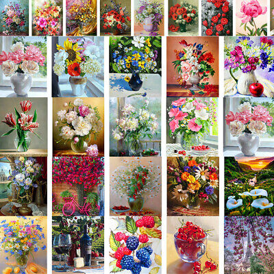 Flowers Floral DIY Paint By Number Kit Digital Oil Painting Home Wall Decor