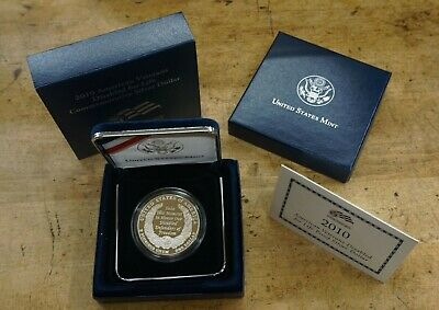 2010-W AMERICAN VETERANS DISABLED FOR LIFE Commemorative Proof 90%Silver Dollar