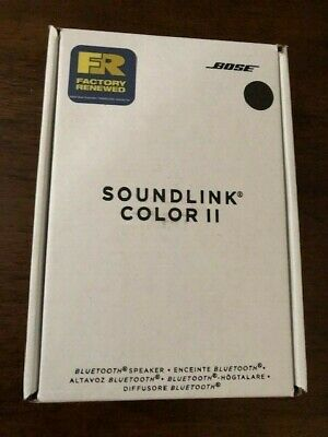 Bose Soundlink Color Ii 2 Portable Speaker Soft Black Bluetooth 1-Year Warranty