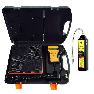 Refrigeration Tools Pack - Digital Refrigerant Scale 100kg and Gas Leak Detector