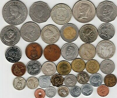 38 different world coins from PHILIPPINES some scarce some silver
