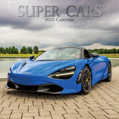Super Cars 2020 Square Wall Calendar by Gifted Stationery