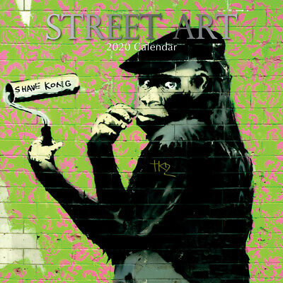 Street Art 2020 Square Wall Calendar by Gifted Stationery