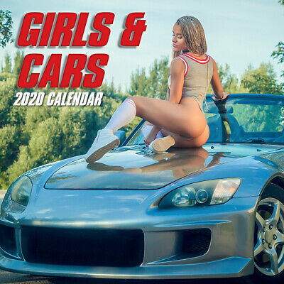 Girls & Cars 2020 Square Wall Calendar by Gifted Stationery