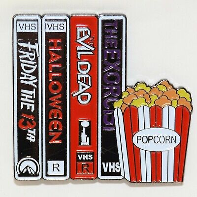Horror Movie Enamel Pin Dead Halloween Gothic Punk Brooch 80s VHS Badge Lapel