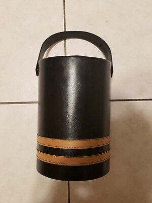 Vintage Antique Georges Briard USA Ice Bucket Leather Type