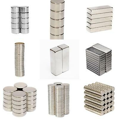 Wo_ 1-200Pcs Super Strong Round Disc Magnets Rare-Earth Magnet N35/N50/52/N48 St