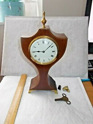 ATTRACTIVE FRENCH MANTLE CLOCK c 1900. WORKING.LOVELY ELEGANT DESIGN.MAKERS MARK