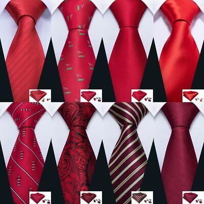 UK Mens Ties Silk Necktie Set Red Burguny Black Green Solid Paisley Striped Tie