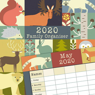 Forest Organiser 2020 Square Wall Calendar by Gifted Stationery