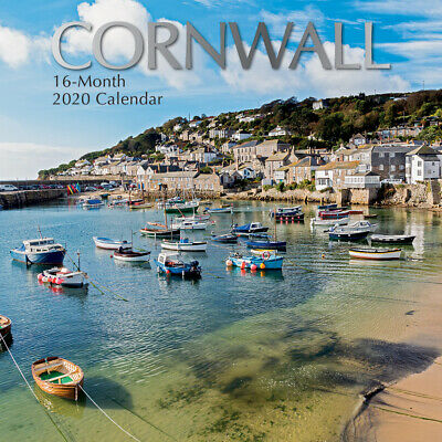 Cornwall 2020 Square Wall Calendar by Gifted Stationery