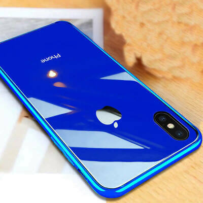 Luxury Moda Vetro Temperato Custodia Cover per Apple iPhone XS Max XR 8 Plus 7 6