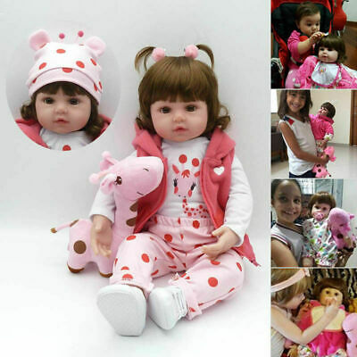 Soft Silicone Vinyl Handmade Real Life Baby Realistic Reborn Dolls Holiday Gifts