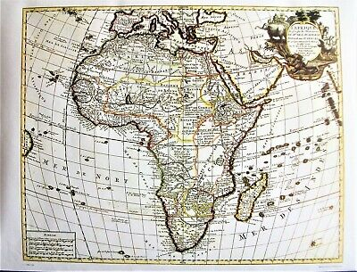 Reproduction of Guillaume de L'Isle 1700 Map of Africa. - L'Afrique Amsterdam.