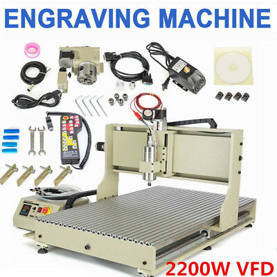 USB 6090 CNC Router 4 Axis Engraver 2.2KW Metal Engraving Milling Machine+Remote