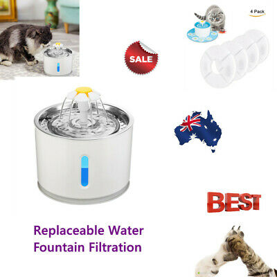 Automatic Electric Pet Water Fountain Cat/Dog Drinking Dispenser with LED 2.4L