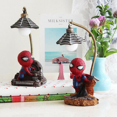 Children Kids Spider man Night Light Desk Table Lamp Birthday Gifts Cute Decor