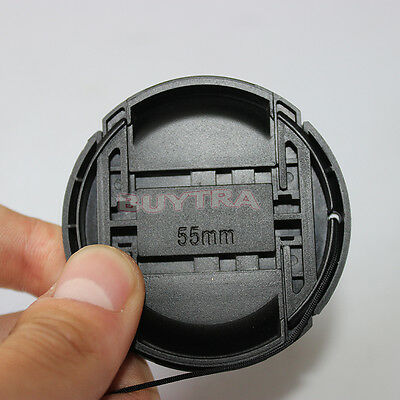 Excellent Cool 55 mm Center Squeeze Front Cap For Canon Nikon Lens Filters  TTCP