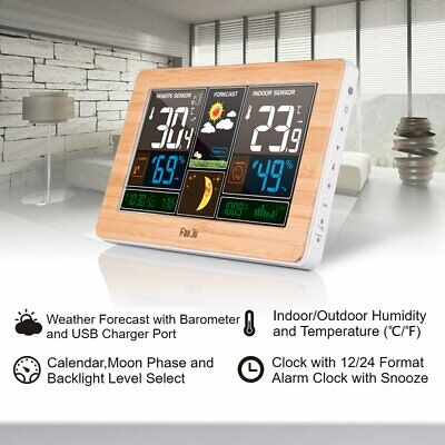 Color Screen Weather Clock Temperature And Humidity Meter Led Screen Alarm ST