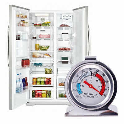 Stainless Steel Temperature Gauge Refrigerator Freezer Dial Tester Thermometer