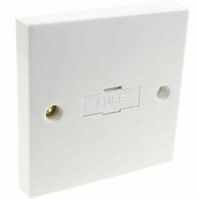 General British 13A Faceplate Unswitched Fused Spur Connection Unit White