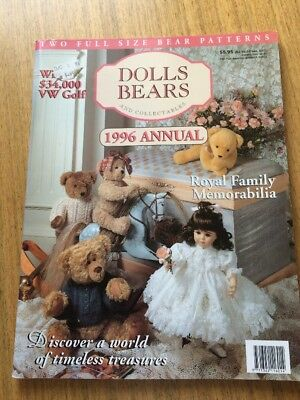 vintage Dolls Bears & Collectables magazine 1996