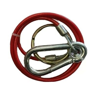 TRAILER BREAKAWAY CABLE PVC RED BURST RING 2mm x 1M FOR CARAVAN MAYPOLE MP498B