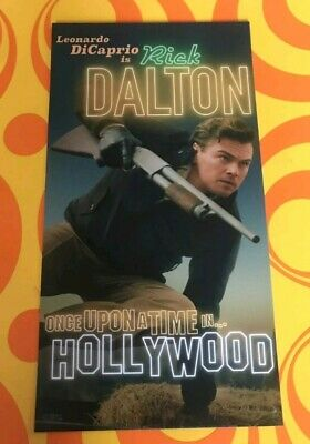 Once Upon A Time In Hollywood CHARACTER CARD ODEON Rick Dalton Quentin Tarantino