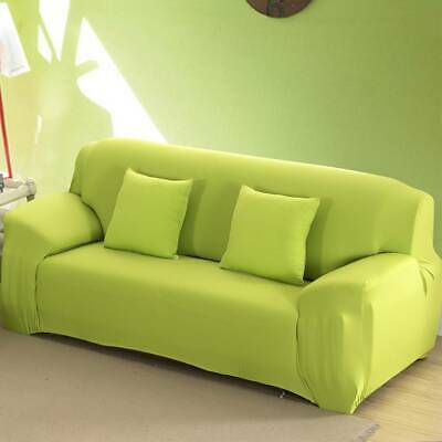 12/3/4 Seater Stretch Sofa Cover Couch Lounge Recliner Slipcover Protector Green