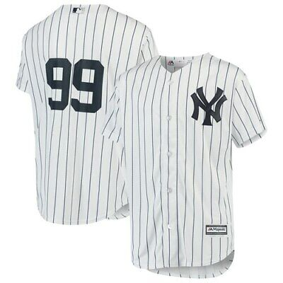 Majestic Aaron Judge New York Yankees Youth White/Navy Home Official Cool Base