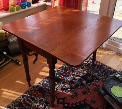 Antique Table Mahogany Drop Leaf With Drawer