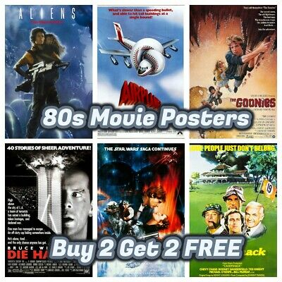 80s Movie Posters - Buy 2 Get 2 Free - Novelty Party Bar Shop Cafe Cinema Decor
