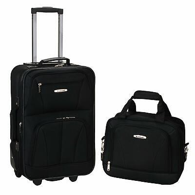 Traveler Carry-on 2-Piece Rolling Luggage Suitcase Tote Bag Set Expandable
